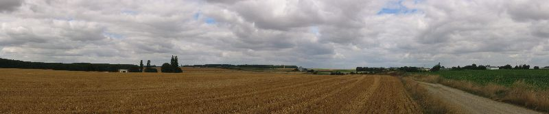Panorama of the Guillemont battlefield of 8/9 August 1916 looking north. Photo: Ian Riley